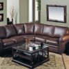 Viceroy Leather Sectional Brown Room