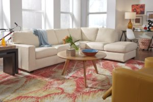 Westend Leather Sectional White Room