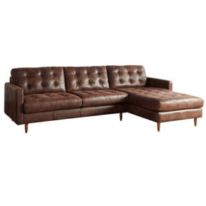 Essex leather sectional