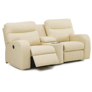 Glen Lawn Love seat console in Leather