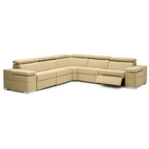 Morino Leather Sectional - Reclining