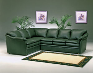 Uptown Leather Sectional Room