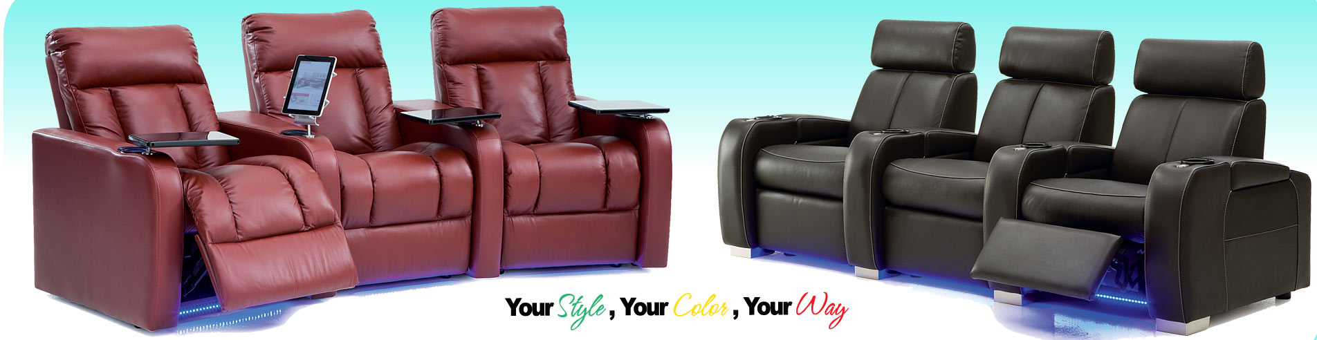 Leather Home Theater Furniture